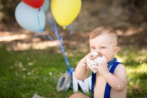 12 months enjoying cake