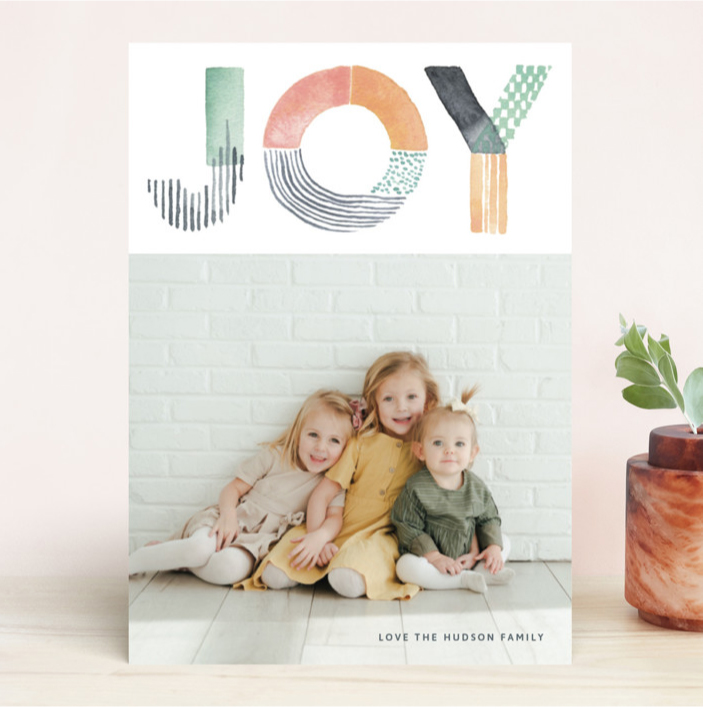 Minted Joy card