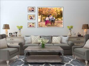 living room gallery wall art