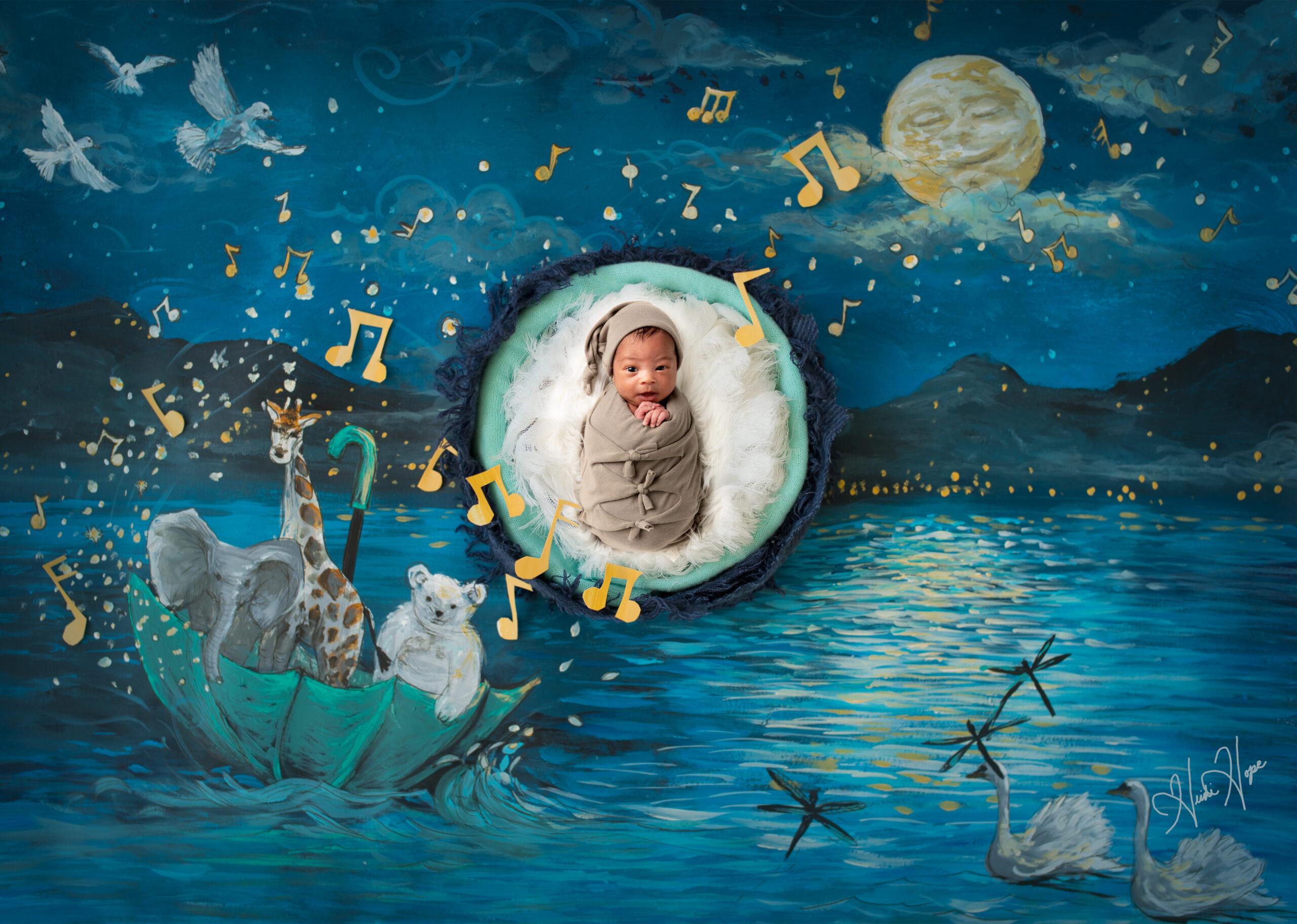 On the night you were born digital backdrop