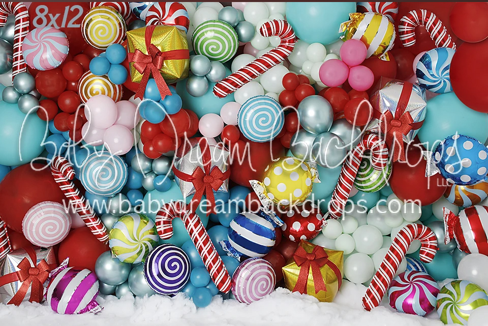 bright candy backdrop