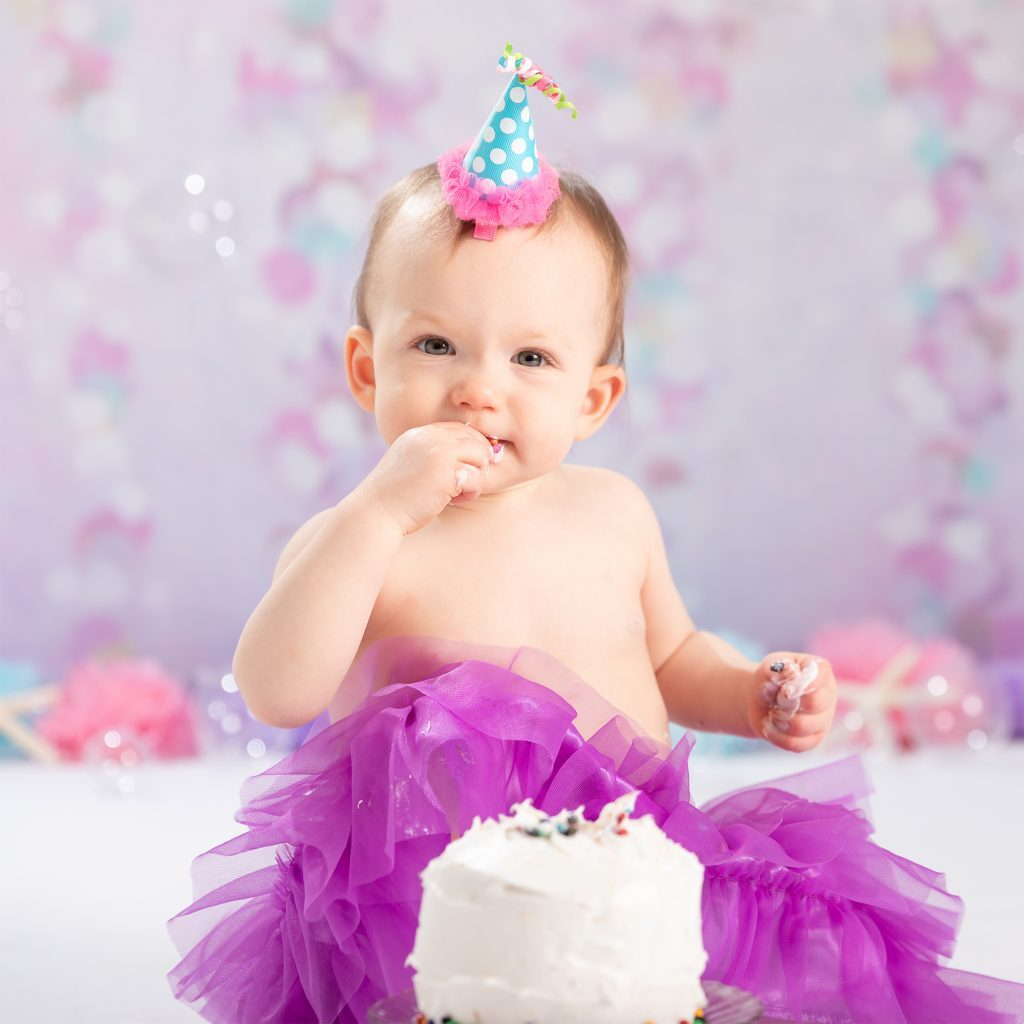 Studio 1 year cake smash photo session