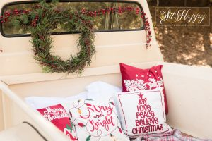 truck bed with holiday props