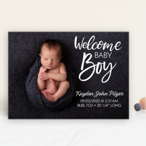 welcome baby boy announcement